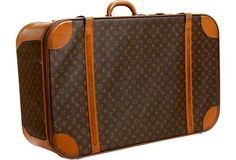"Vintage Louis Vuitton large valise with a ""Manufactured in the /uSA"" label, x x Vintage Louis Vuitton Luggage, Lv Luggage, Louis Vuitton Suitcase, Vintage Luggage, Vuitton Bag, Louis Vuitton Handbags, Louis Vuitton Damier, Basson, Vintage Classics"