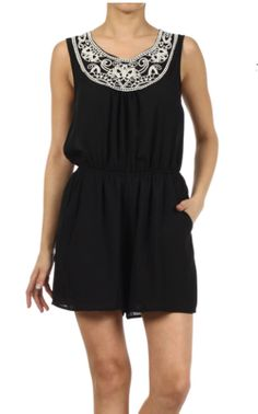 Everly - Playsuit Black