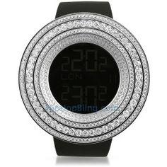 Custom Digital Triple 3D Bezel High End Watch
