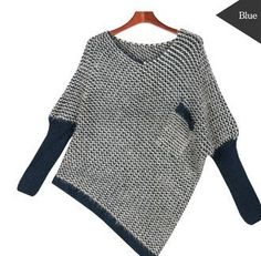 korean style womens pocket unbalanced knit sweater now 3495 reg 4995 - PIPicStats