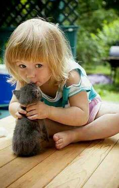 Cute kids and cats- 26 pics So Cute Baby, Cute Kids, Animals For Kids, Baby Animals, Funny Animals, Cute Animals, Crazy Cat Lady, Crazy Cats, Kittens Cutest