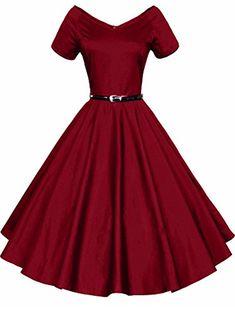 8cccc4f33a0 Women s Short Sleeved Retro Style Midi Dress Or grey Women s Dresses