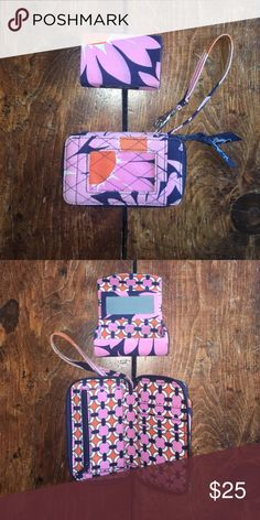 Floral Vera Bradley ID Wristlet and Lipstick Case ID Wristlet and Lipstick case. Great condition. Loves Me pattern. Vera Bradley Bags Clutches & Wristlets