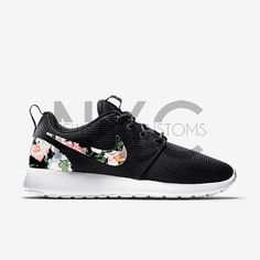 100% authentic c1abd 0edc4 Vintage Floral Variety Nike Roshe Run Black Custom by NYCustoms. Ellie b ·  Shoes ♥️