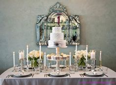 Chic Silver and White Winter Table Top Decor Ideas