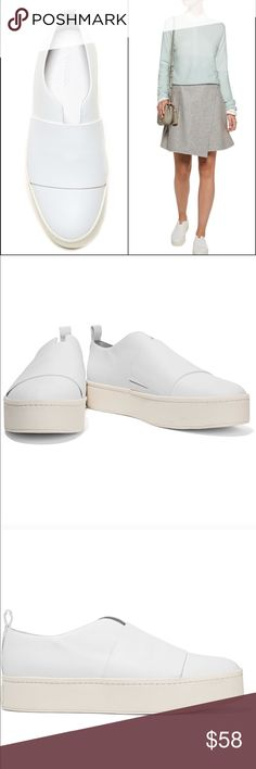 a0d4b86ea9c6 Vince • Wallace Leather Platform Sneakers All white •VINCE •sneakers Great  shoes that can