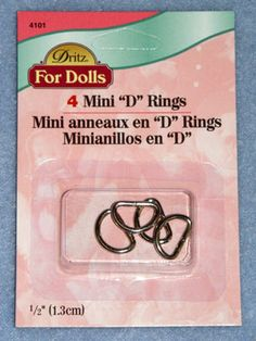 """Mini """"D"""" Rings - Nickel, Fasteners, Dolls, CR's Crafts - Largest Variety of Doll Supplies and Bear Supplies ANYWHERE!"""