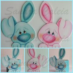 """by Sandra Caleia : """"Pink and blue"""" Foam Crafts, Crafts To Make, Crafts For Kids, Arts And Crafts, Easter Crafts, Holiday Crafts, Christmas Diy, Baby Easter Basket, Easter Baskets"""