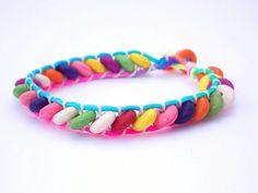 Rainbow Howlite Bracelet FREE UK DELIVERY by PhillipaJaneDesigns