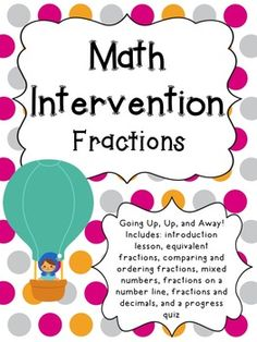 This 4th grade fractions intervention pack is to help with your in-class math intervention. Having a plan and materials is essential to helping students requiring intervention. This pack has lessons that help students work their way up to meet 4th grade standards using pictorial models and manipulatives. Included: 8 days of 20 minute lessons and an Extras Pack! (Time can vary based on students' understanding and how in depth you go with each lesson.) introduction activities, word ...