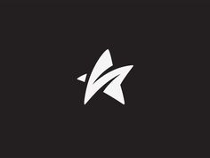 Creative Star, Logos, White, Branding, and Black image ideas & inspiration on Designspiration Logo Esport, Typography Logo, Logo Luxury, Star Logo, Great Logos, Star Designs, Grafik Design, Creative Logo, Cool Logo