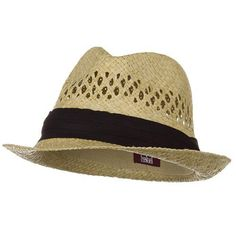 This may be a little better match than the other one I have pinned her. With a new hat band it might be close.  Vented Raffia Straw Fedora Hat-Natural with Black Band Mi... http://www.amazon.com/dp/B0042L4H3Y/ref=cm_sw_r_pi_dp_gvLsxb1F12V6B