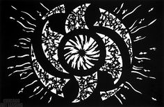 """Whirl Black"" cut paper artwork by Richard Shipps, available at Chicago Art Leasing:  www.chicagoartleasing.com"