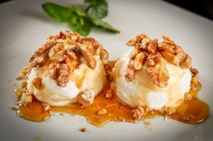 Παγωτό με μέλι και καρύδια!