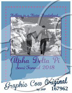 Walking in a Winter Wonderland Semi Formal #adpi #snow #formal #grafcow