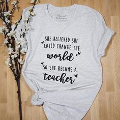 Why did you become a teacher? Let us know in the comments below! Find this t-shirt at BoredTeachers.com!