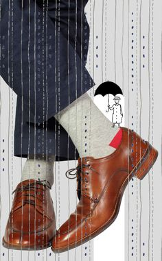 Rainy days sock. #soxfords