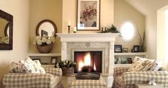 Intricate English Cottage Design in Classic Interior: Fancy Traditional Family Room Old English Cottage Fireplace