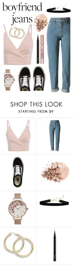 """boyfriend jeans"" by solonora ❤ liked on Polyvore featuring Vans, Anastasia Beverly Hills, Olivia Burton, MAC Cosmetics and L'Oréal Paris"