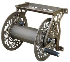 nice Liberty Garden Products Decorative Non-Rust Cast Aluminum Wall Mounted Garden Hose Reel With Capacity - Antique Finish 704