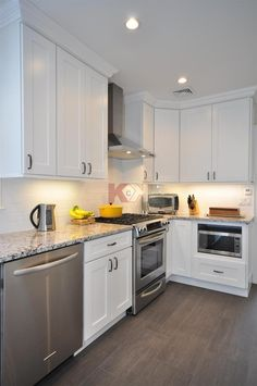Ice White Shaker Cabinets by Kitchen Cabinet Kings
