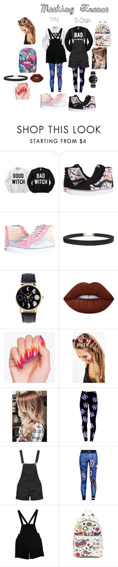 """""""Meeting France"""" by rarelee ❤ liked on Polyvore featuring Vans, Humble Chic, Lime Crime, Johnny Loves Rosie, Boohoo, adidas, American Apparel, Anya Hindmarch and Sprayground"""