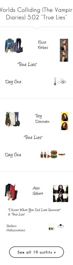"""""""Worlds Colliding (The Vampire Diaries) 5.02 """"True Lies"""""""" by mysticfalls1997 ❤ liked on Polyvore featuring J Brand, Vero Moda, H&M, Acne Studios, Stephen Webster, Miso, MANGO, Forever 21, Wet Seal and Current/Elliott"""