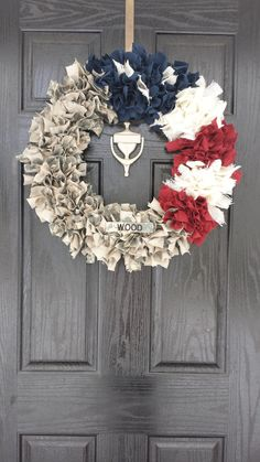 22 inch Patriotic Military Wreath Navy/AF/Army/Marine by MyTTT