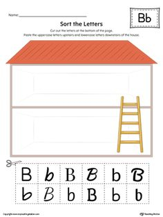 **FREE** Sort the Uppercase and Lowercase Letter B in Color Worksheet. Practice identifying the uppercase and lowercase letter B in this sorting printable worksheet.