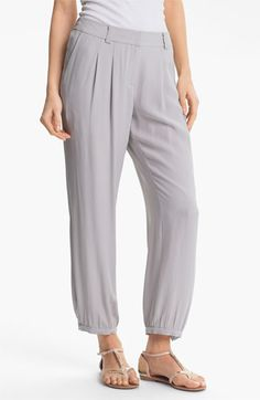 Eileen Fisher Silk Georgette Crepe Pants available at Nordstrom