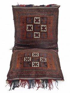 Multi-Color Wool Turkman Saddle Bag 45in x 20.5in