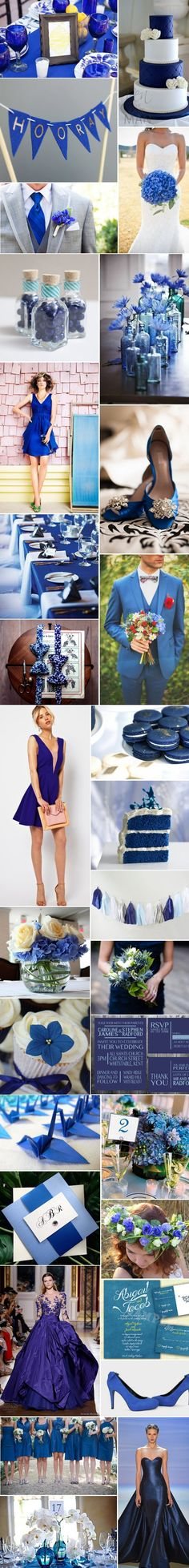 [Inspiration] Mariage bleu roi