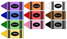 Our Home Creations: Free crayon printable – Crayons Toddler Classroom, Preschool Classroom, Classroom Themes, Classroom Activities, Classroom Organization, Preschool Activities, Classroom Helpers, Preschool Curriculum, Preschool Colors
