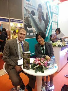 International Aquafeed's Tuti Tan with Dr Roland Matyasi of Alltech at the APA13 in Saigon, Vietnam - http://theaquaculturists.blogspot.co.uk/search?updated-max=2013-12-12T09:39:00-08:00&max-results=7&reverse-paginate=true