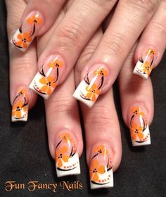 Orange you pretty? - Nail Art Gallery nailartgallery.nailsmag.com by nailsmag.com