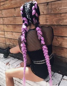 boxer braids add in color hair - festival hair - braids Frisuren Box Braids Hairstyles, Braids In Hair, Festival Hairstyles, Short Hairstyles, Festival Braid, Music Festival Hair, Diy Festival, Rave Hair, Colored Braids