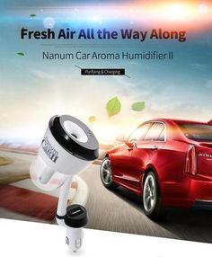 Car Humidifier Air Purifier Aroma Diffuser Essential oil with Dual USB Charger