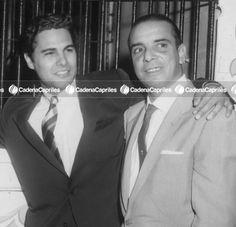 Alfredo Sadel junto a Billo Frómeta, director de la orquesta Billo's Caracas Boys. Foto: Archivo Fotográfico/Cadena Capriles