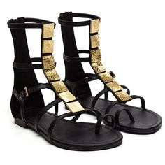 Square Up Gladiator Sandals BLACK ($31) ❤ liked on Polyvore featuring shoes, sandals, black, black sandals, open toe sandals, black shoes, faux leather sandals and gladiator sandals