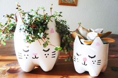 DIY Macetas con botellas de gaseosa