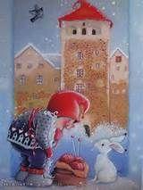 Kaarina Toivanen Christmas Cartoons, Christmas Clipart, Christmas Greetings, Christmas Time Is Here, Christmas Fairy, Christmas Crafts, Scandinavian Kids, Funny Drawings, Winter Cards