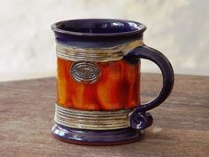 Looking for Blue Orange Wheel Thrown Pottery Coffee Tea Mug ? Check out our picks for the Blue Orange Wheel Thrown Pottery Coffee Tea Mug from the popular stores - all in one. Ceramic Teapots, Glazed Ceramic, Ceramic Bowls, Ceramic Art, Pottery Mugs, Ceramic Pottery, Pottery Ideas, Slab Pottery, Vases
