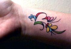 girly-flower-tattoo-girl-wrist.jpg (390×273)