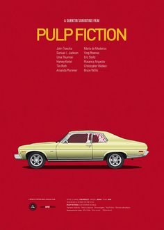 Pulp Fiction - Cars and Films - Poster Series by Jesús Prudencio