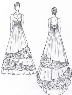New 2011 Eco Wedding Gowns- Tease you silly~ Dress Design Drawing, Dress Design Sketches, Fashion Design Sketchbook, Dress Drawing, Fashion Design Drawings, Dress Designs, Fashion Drawing Dresses, Fashion Illustration Dresses, Fashion Model Sketch