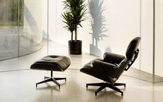 Murdered Out Eames Lounge Chair & Ottoman