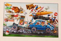 N7 ... ROUTE DES VACANCES !! par Jean-Jacques Loup - Illustration