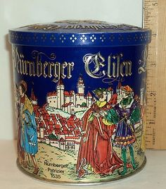 $7.99 Seim Elisen Lebkuchen die Spitzenqualitat Decorative Candy Advertising Tin on eBay!