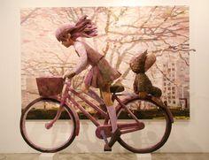 「さよなら三角」/ ''SAYONARA SANKAKU'', 2008, panting, polystyrene based sculpture
