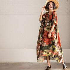 Korean Style Loose Big Size Dress Summer Tops Maxi Size Clothes Q879A